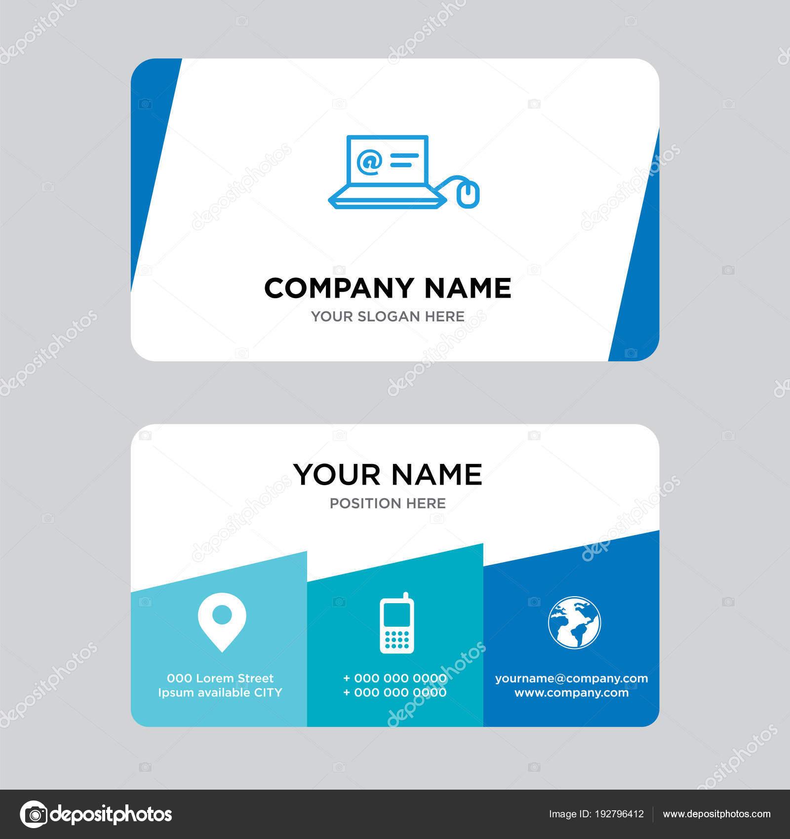 Correo en plantilla de diseño de tarjetas portátil — Archivo ...