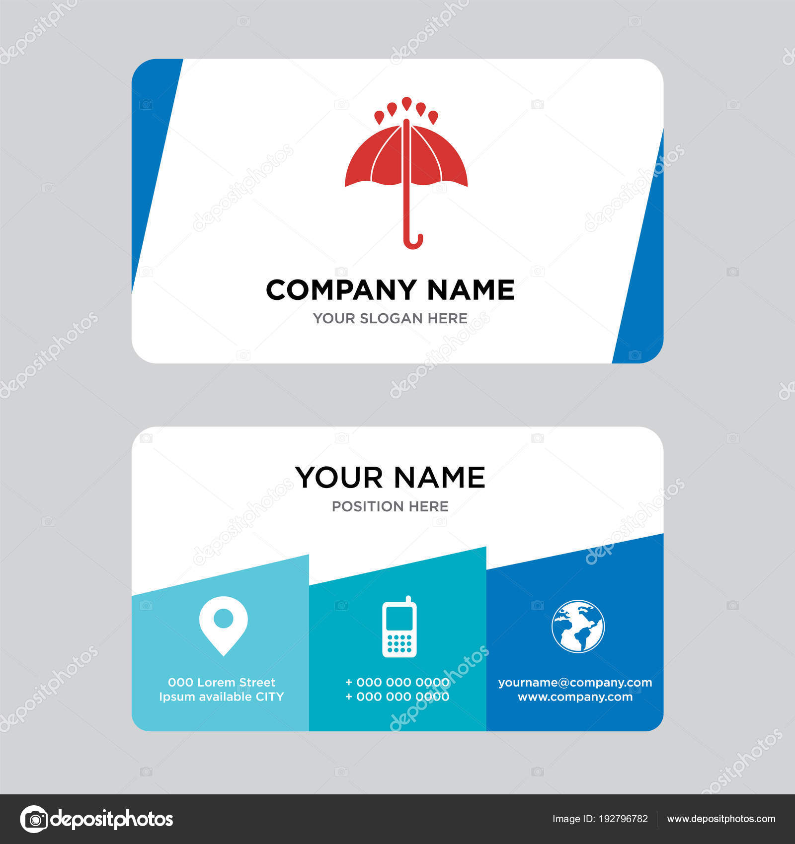 24 hours business card design template — Stock Vector ...