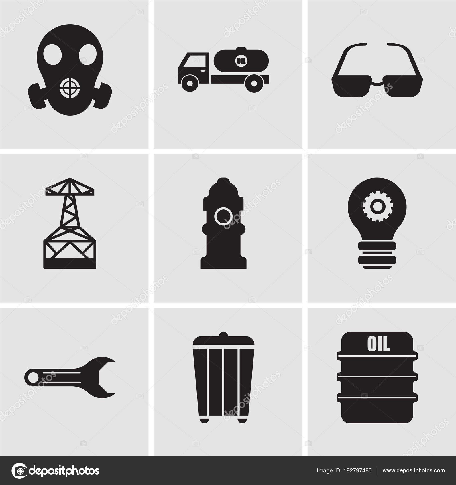 Set de 9 iconos editables sencillos tales como aceite 00017b6f80b