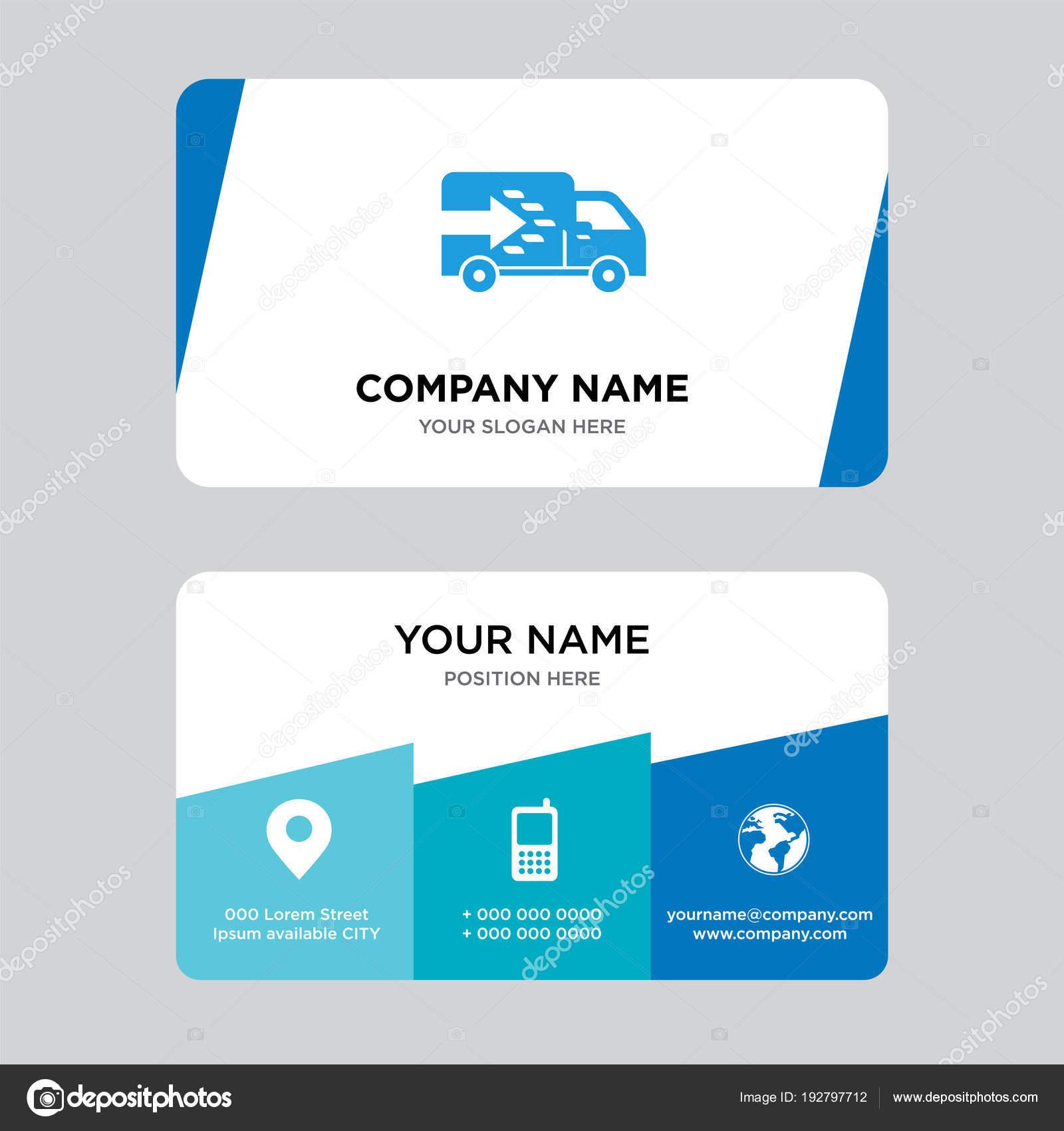 Logistics truck business card design template stock vector logistics truck business card design template stock vector colourmoves