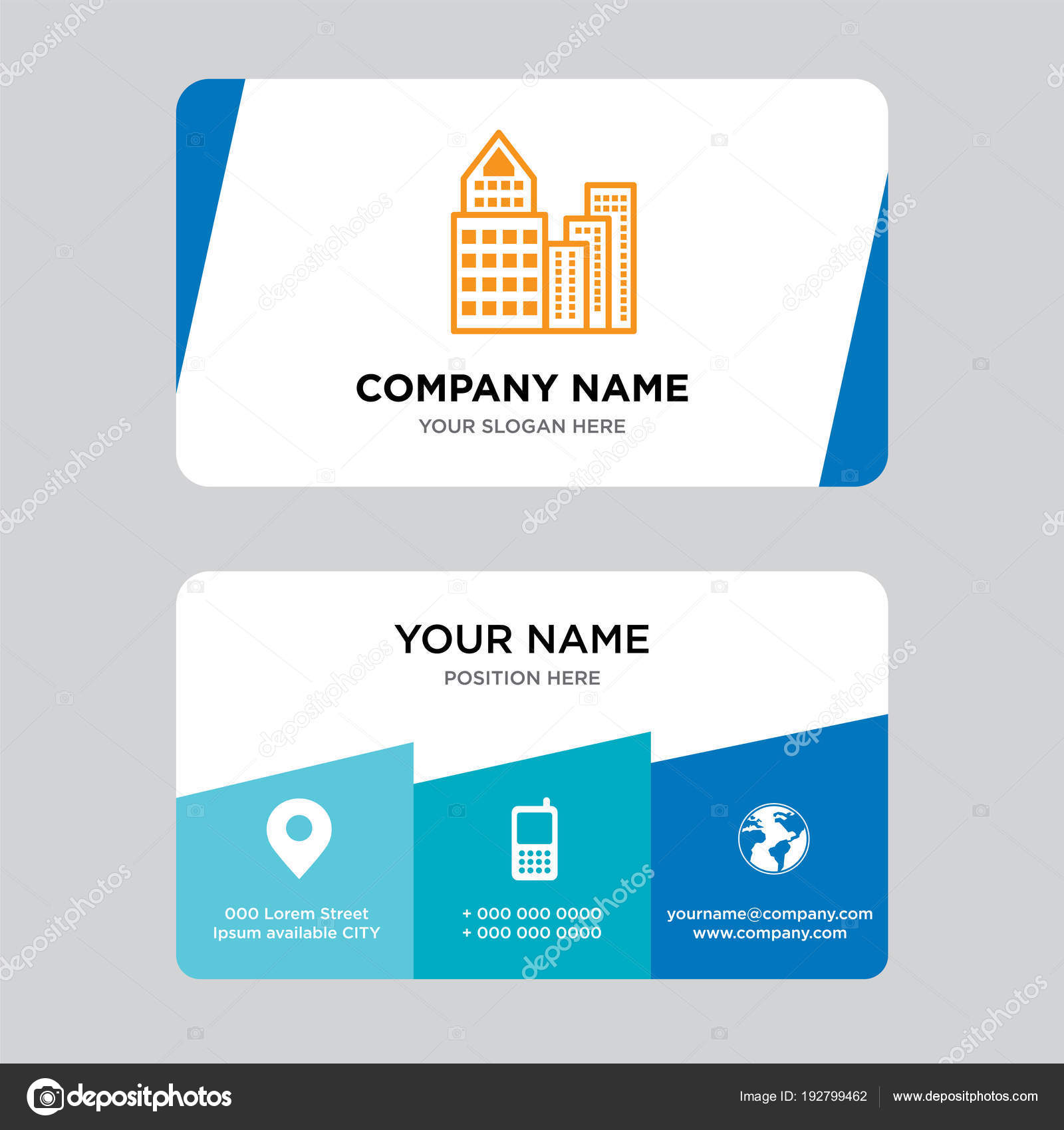 Construction Visiting Card Design Building Business Card