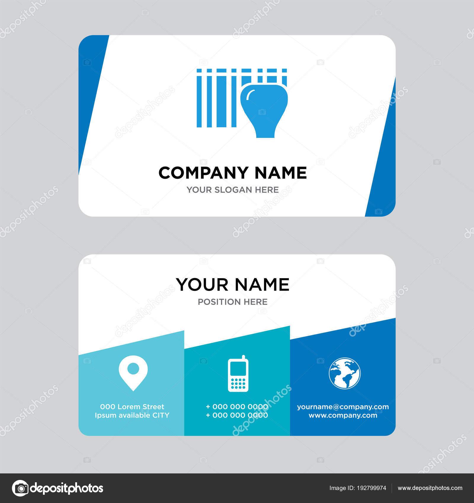Identificación para la entrega con plantilla de diseño de tarjetas ...