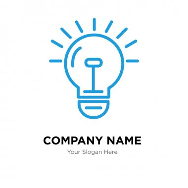 bulb company logo design template