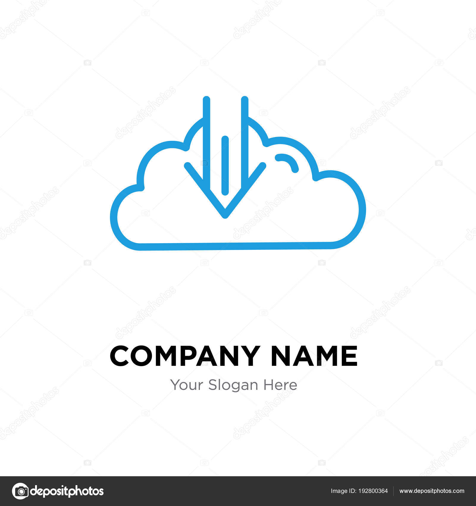 descargar plantilla de diseño de logo de empresa — Vector de stock ...