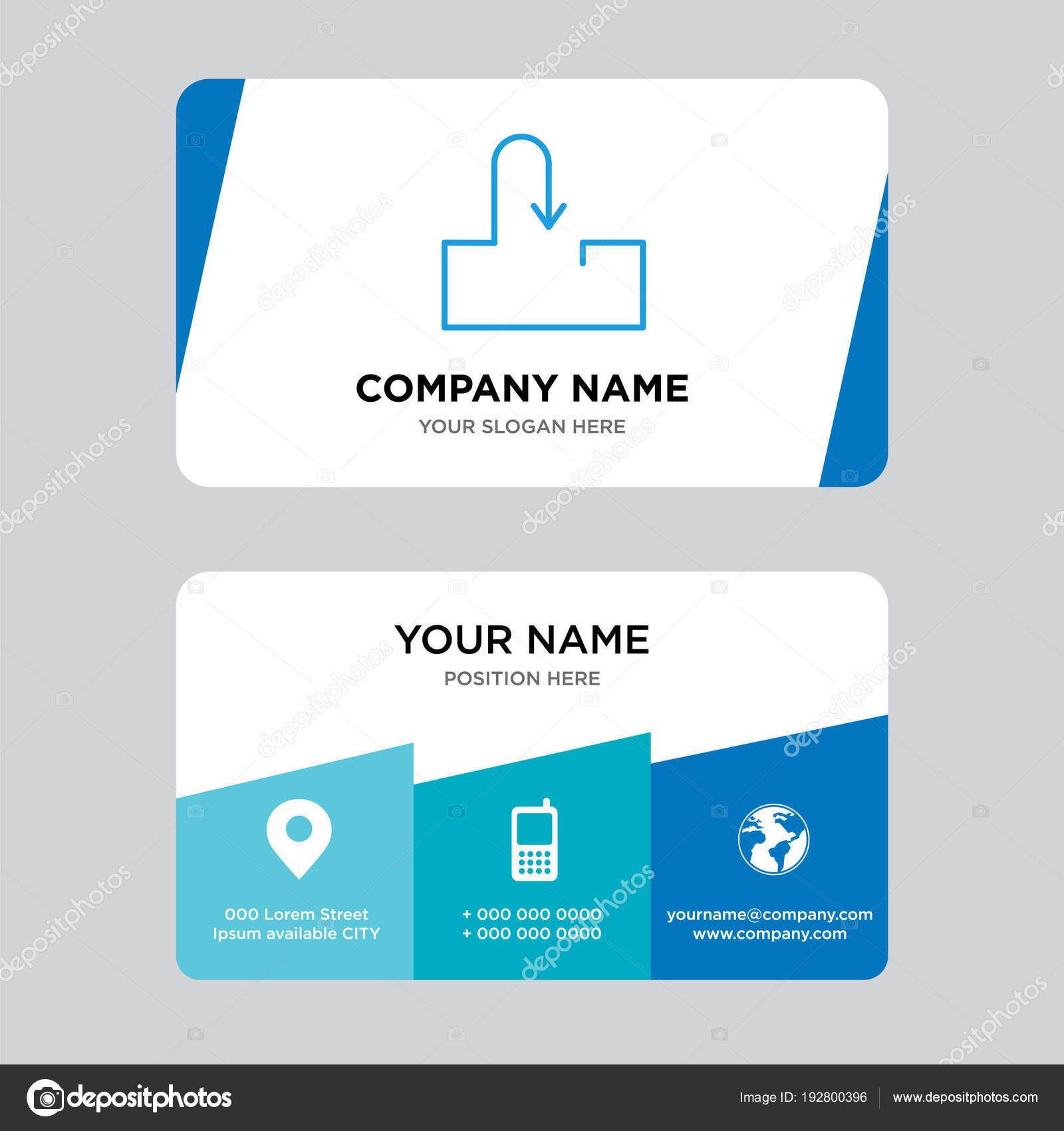 Plantilla de diseño de tarjeta de visita de bandeja de entrada ...