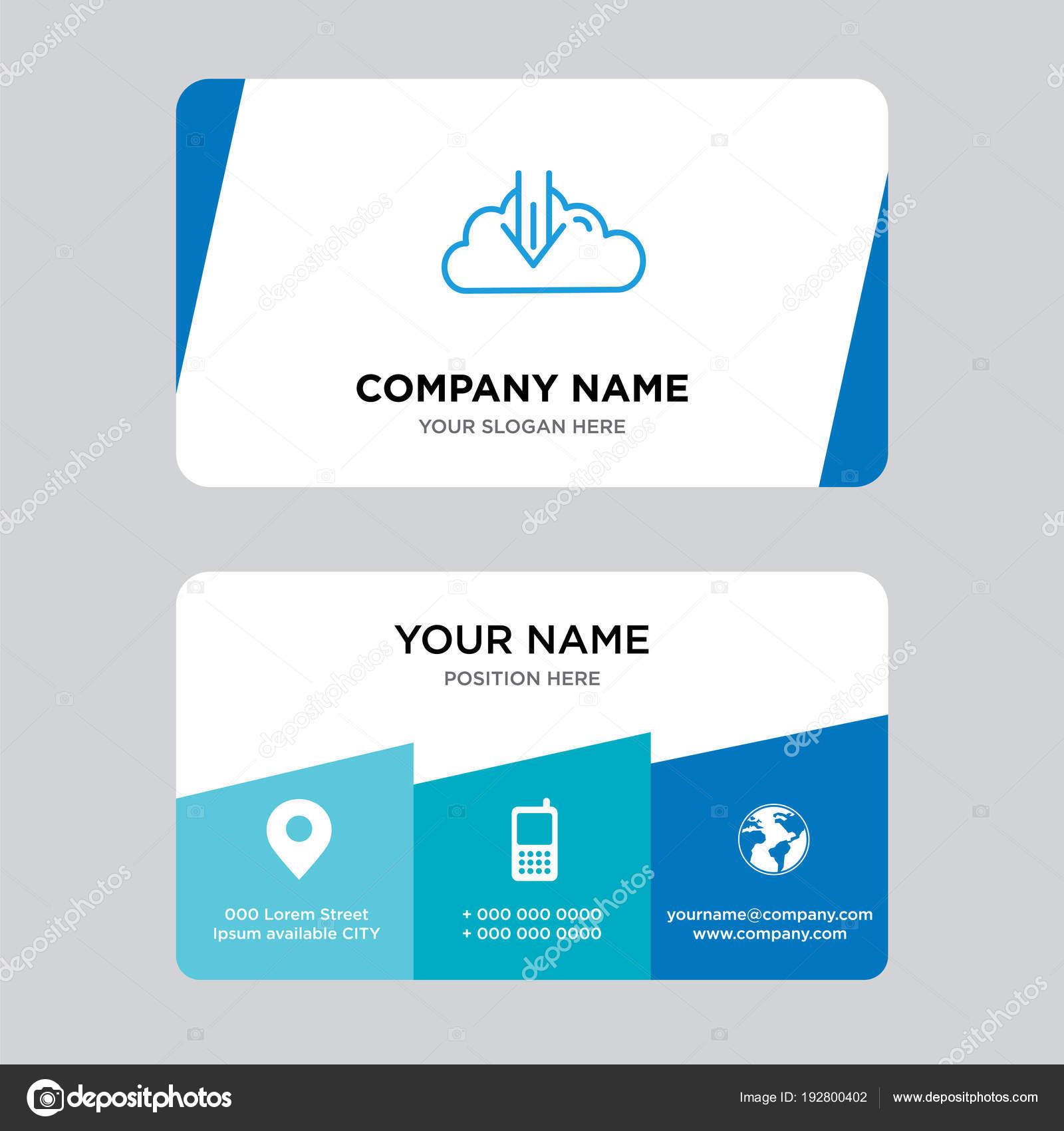 descargar plantilla de diseño de tarjeta de visita — Archivo ...