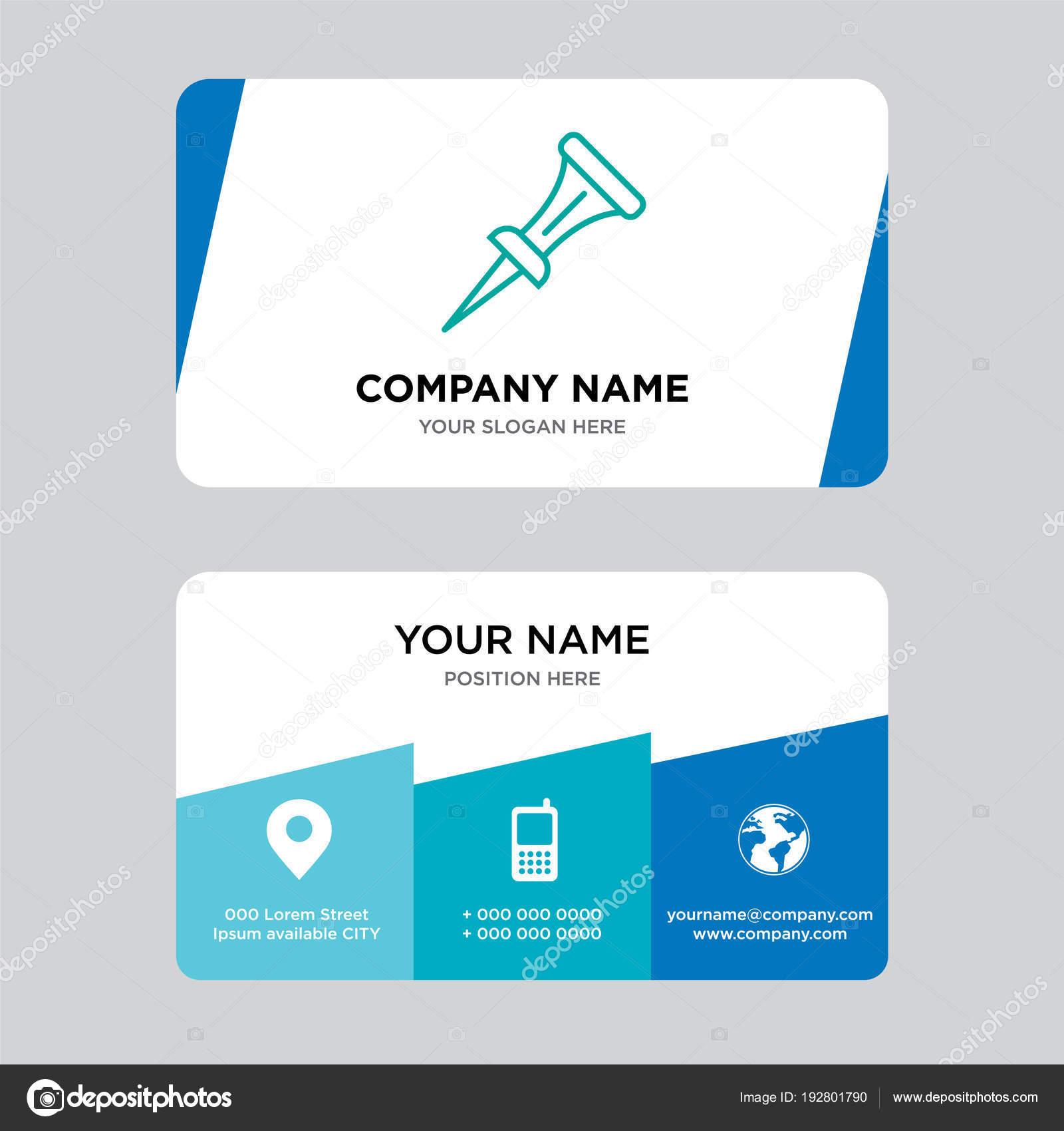 Nail Business Card Design Template Stock Vector Provectorstock