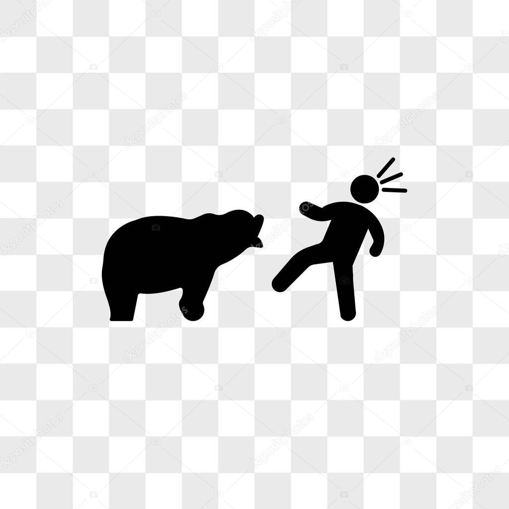 bear attacking vector icon isolated on transparent background bear attacking logo concept premium vector in adobe illustrator ai ai format encapsulated postscript eps eps format bear attacking vector icon isolated