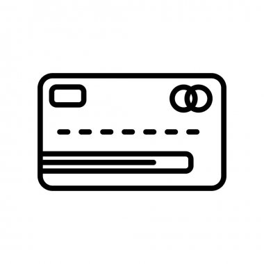 Bank Card icon vector sign and symbol isolated on white backgrou