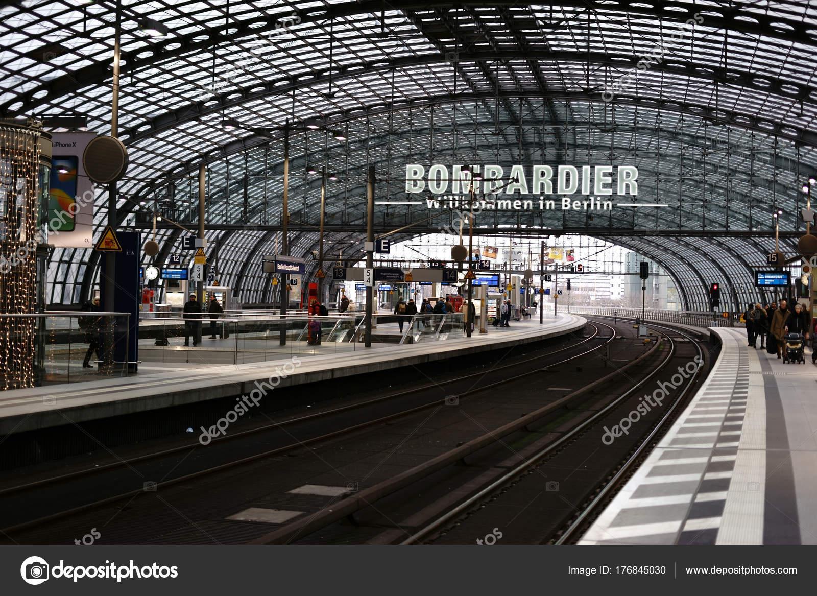 Berlin Main Station Platform Berlin Central Station