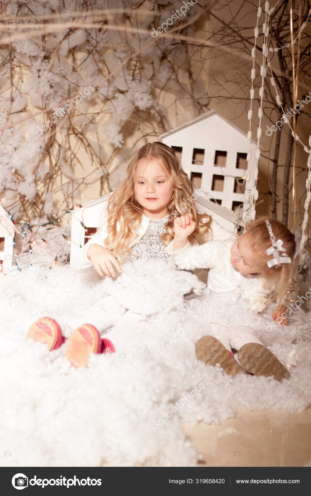 идеи фотосессии с искусственным снегом чаще всего
