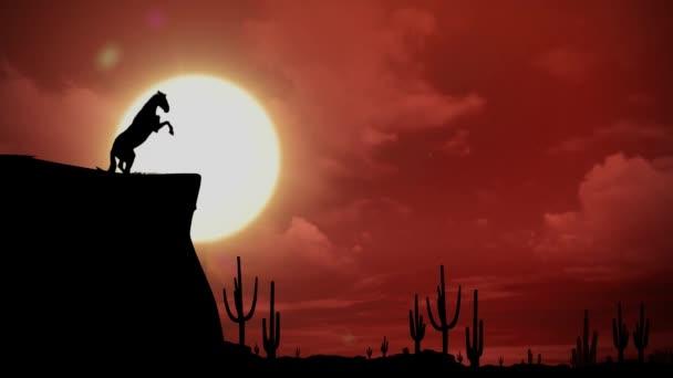 Stojící kůň silueta Full HD