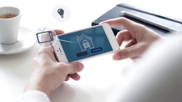 Smartphone s domácím zabezpečením