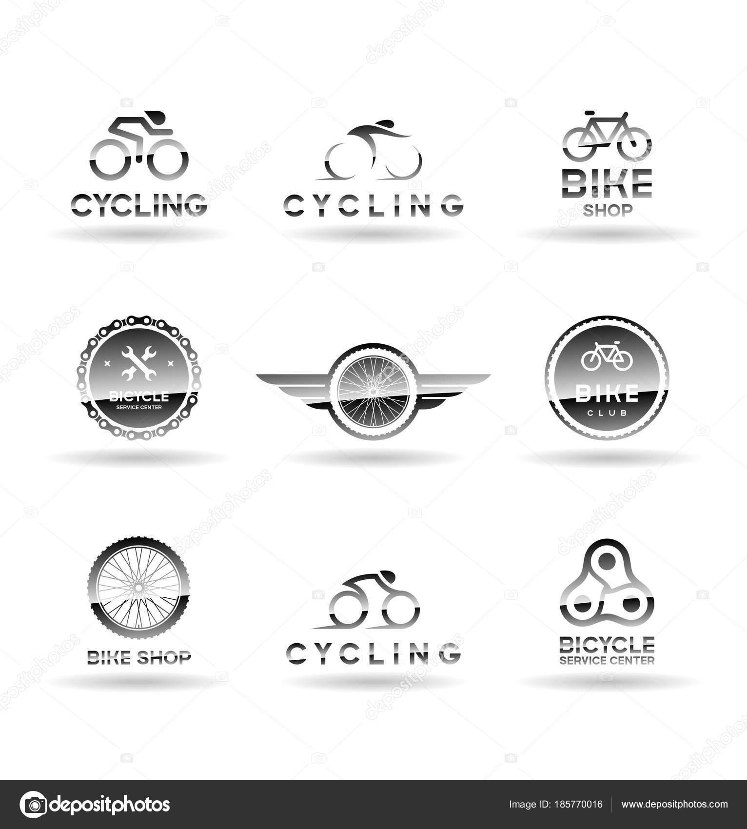ae48ea6d70 Jízdní Kola Cyklistické Logo Nápady — Stock Vektor © pnedesign ...