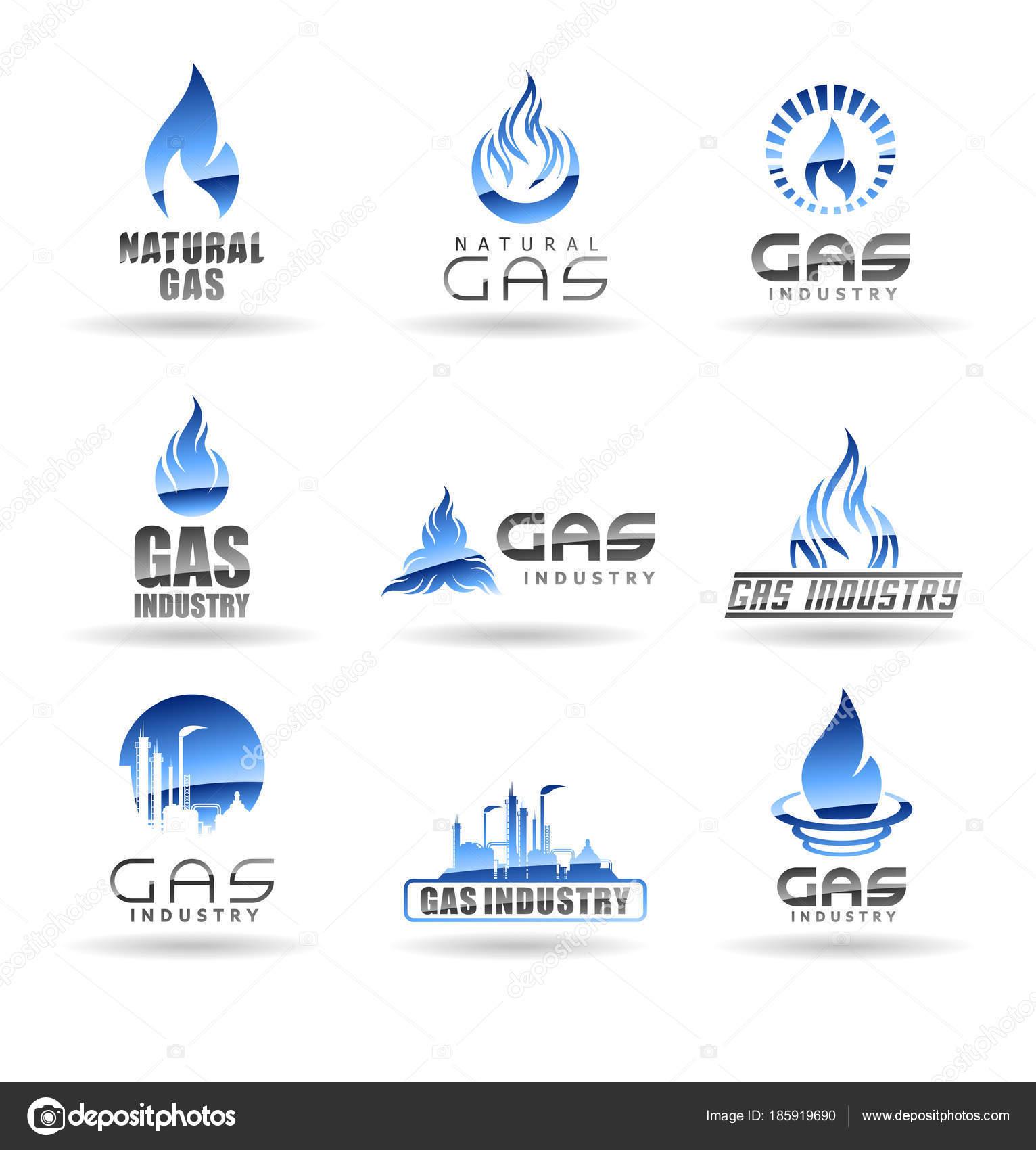 Natural Gas Vector Logo Templates — Stock Vector © pnedesign #185919690
