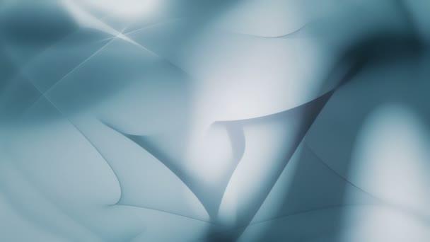 Ätherische organische Formen bilden eine wirbelnde bläulich bewegte Hintergrundschleife