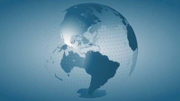 Země 8 / / 4k stylizované rotující smyčky Video na pozadí Globe. Stylizované zemi světa používá modré barevné schéma. K dispozici v rozlišení 4 k! K dispozici také v rozlišení 4 k.
