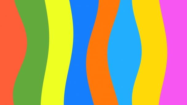 Hoolahoop / / 4 k barevné plynulé Video pozadí smyčky. Velmi pestrá, plynoucí křivky bary. Veselý video pozadí smyčky, Skvělé pro hudební účely například.