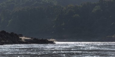 Scenic view of river, River Mekong, Oudomxay Province, Laos