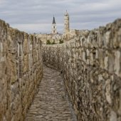 Photo Wall promenade in the old city with Tower of King David Citadel in background, Jerusalem, Israel