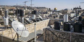 Fotografie View of old city with Dome of The Rock in the background, Jerusalem, Israel