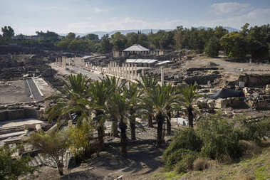 View of archaeological site, Bet She'an National Park, Haifa District, Israel