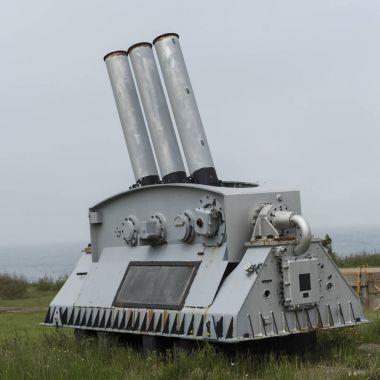 Cannon at Fort Petrie, New Victoria, Cape Breton Island, Nova Scotia, Canada stock vector