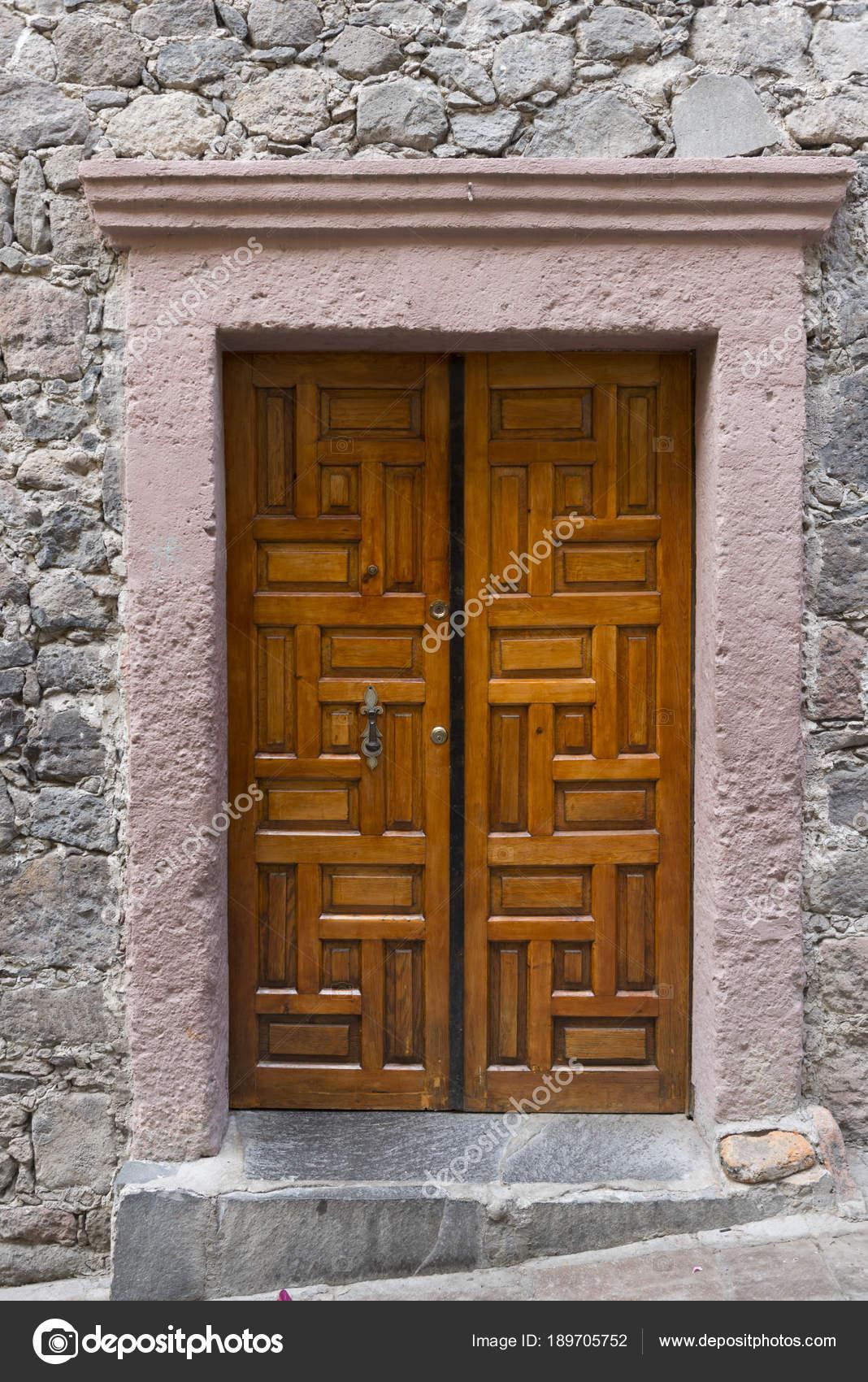 Puerta Madera Entrada Una Casa Zona Centro San Miguel Allende