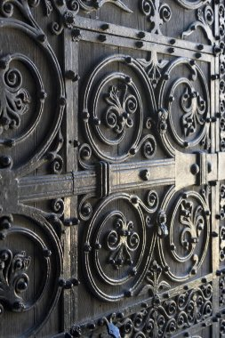 Full frame shot of metal gate, St. Mary's Cathedral, Edinburgh, Scotland