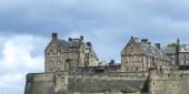 Vista sul Castello di Edimburgo, Edimburgo, Scozia