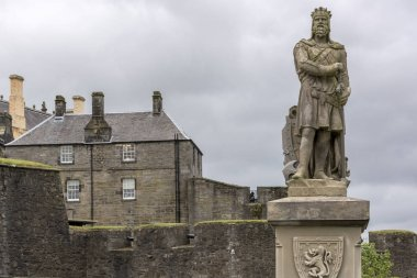 Statue of Robert the Bruce at Stirling Castle, Stirling, Scotland