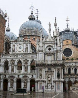 Facade of the St Mark's Basilica, St Mark's Square, Venice, Veneto, Italy