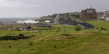 People at Old Course at St Andrews, St Andrews, Fife, Scotland