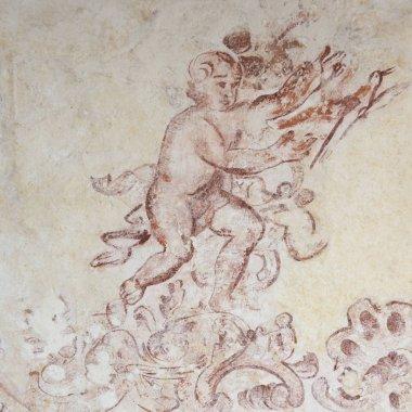 Mural sketch on wall, Bellas Artes, San Miguel de Allende, Guanajuato, Mexico