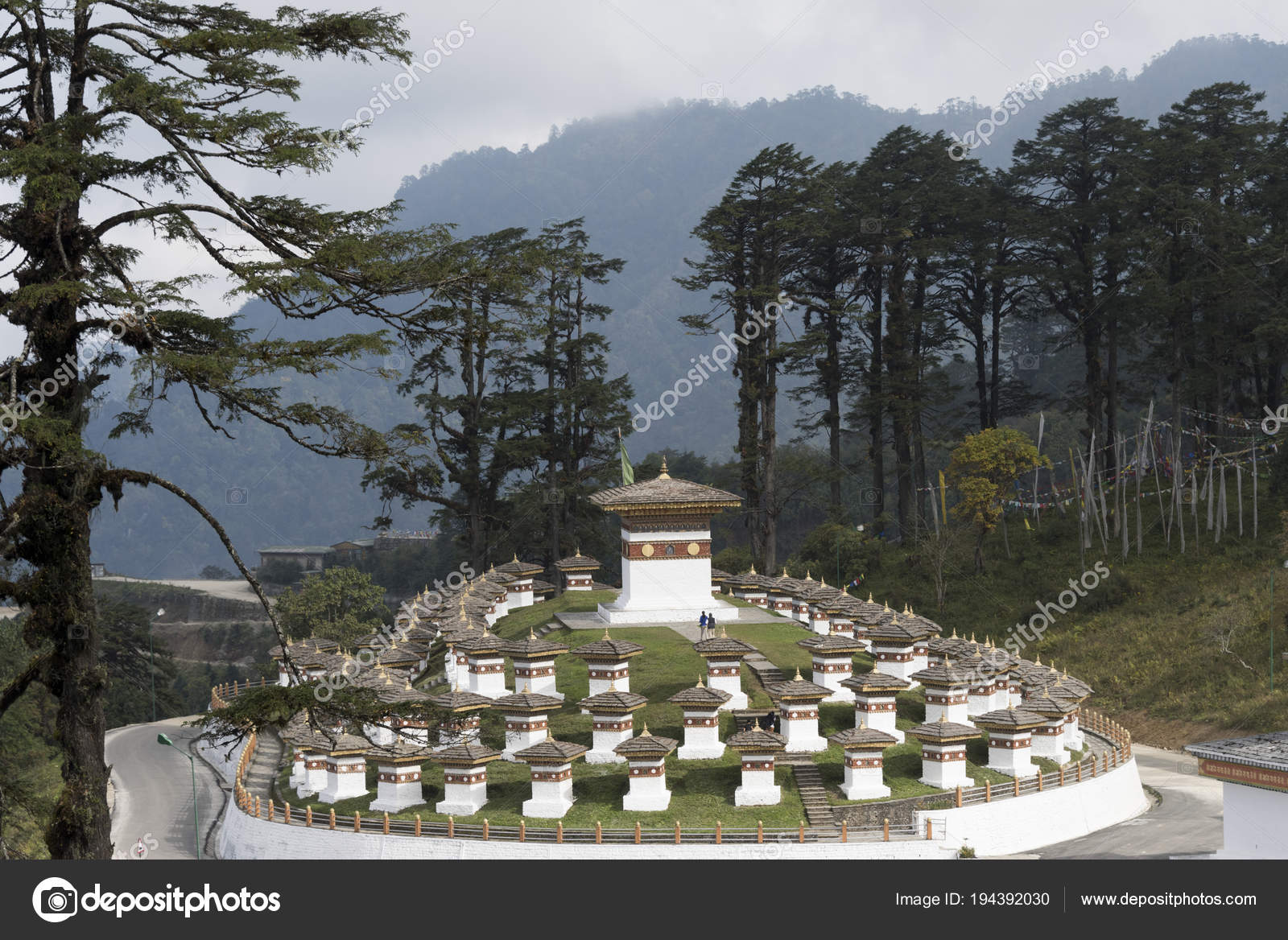 Blick Auf Die Druk Wangyal Chörten Dochula Pass Bhutan Stockfoto