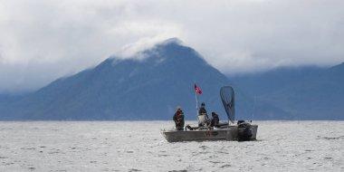Fishing boat in the Pacific Ocean, Skeena-Queen Charlotte Regional District, Haida Gwaii, Graham Island, British Columbia, Canada