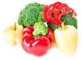Zelenina na bílém pozadí