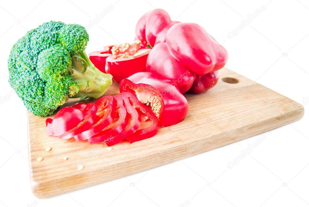 pepper broccoli, etc.