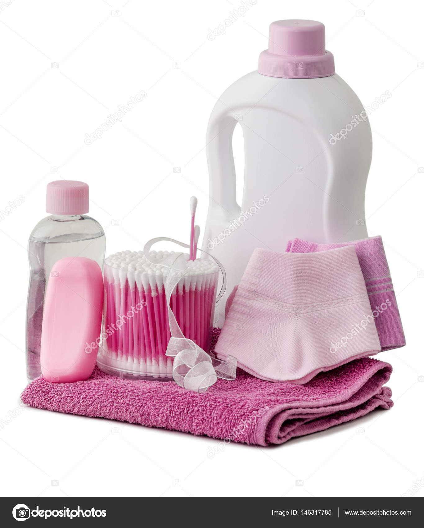 hygiene products and bathroom accessories — Stock Photo ...