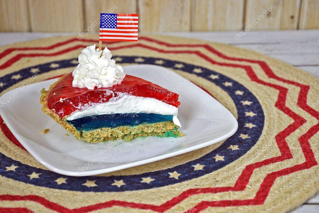 Patriotische Gotterspeise Torte Stockfoto C Jentara 128639704
