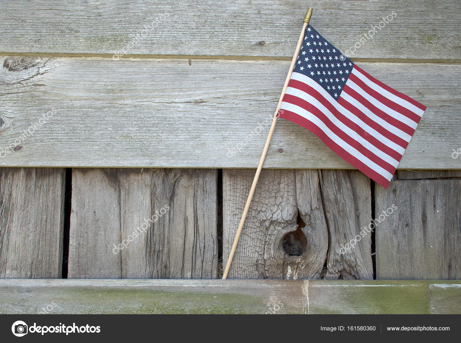 American Flag Decoration On Rustic Barn Wood Photo By Jentara