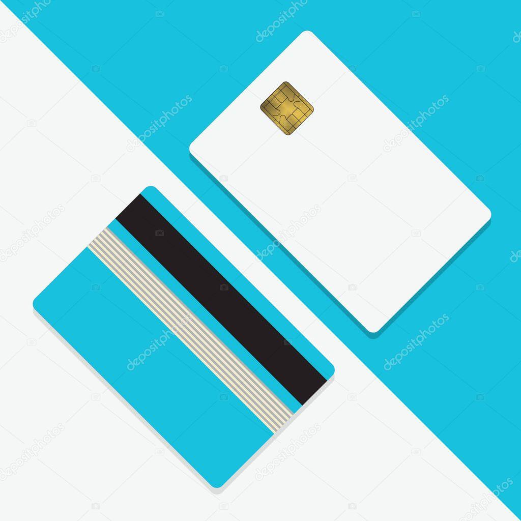 credit card mockup blank template — stock vector