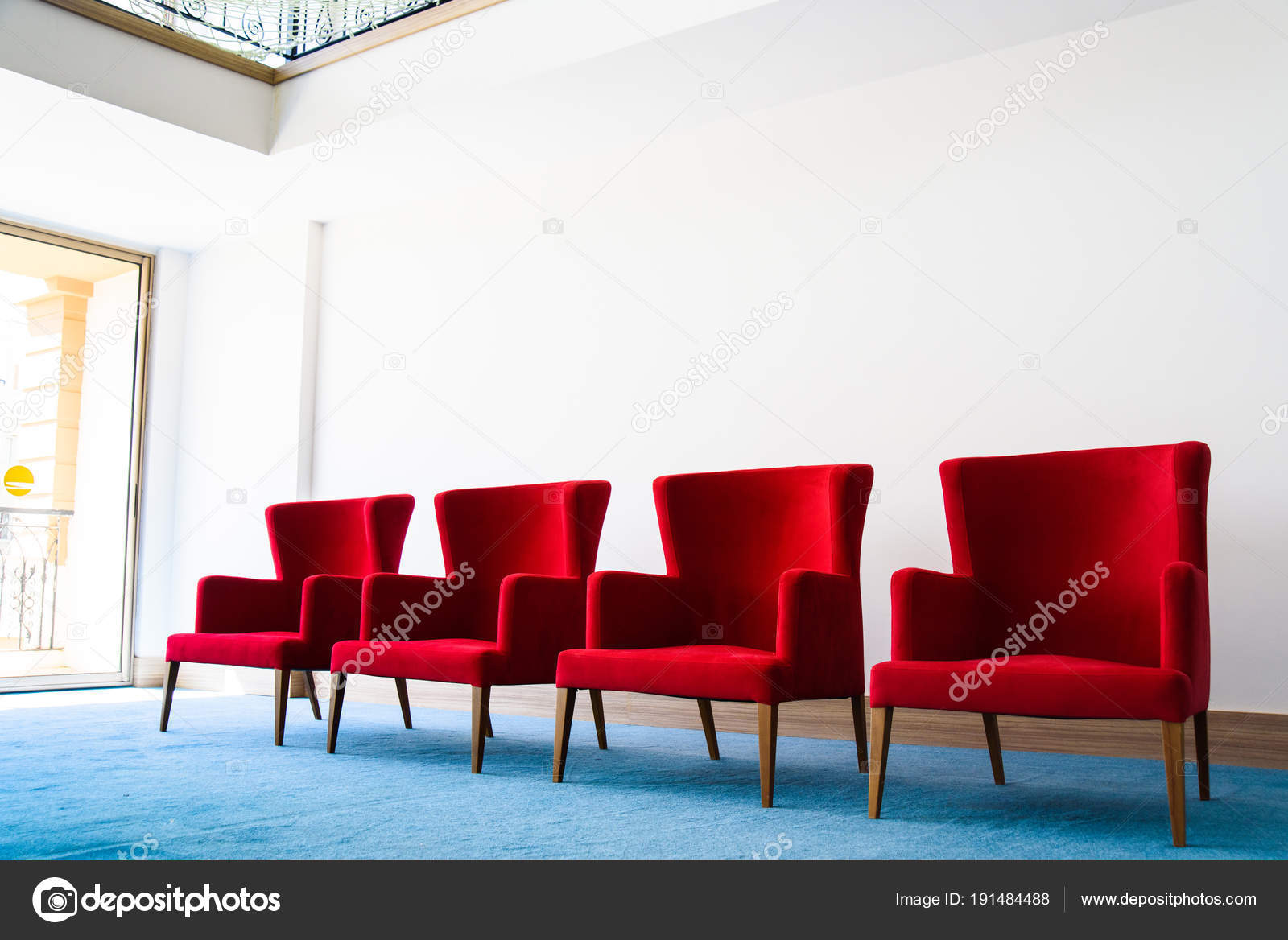 Miraculous Red Chair In White Interior Stock Photo C Pproman 191484488 Pabps2019 Chair Design Images Pabps2019Com