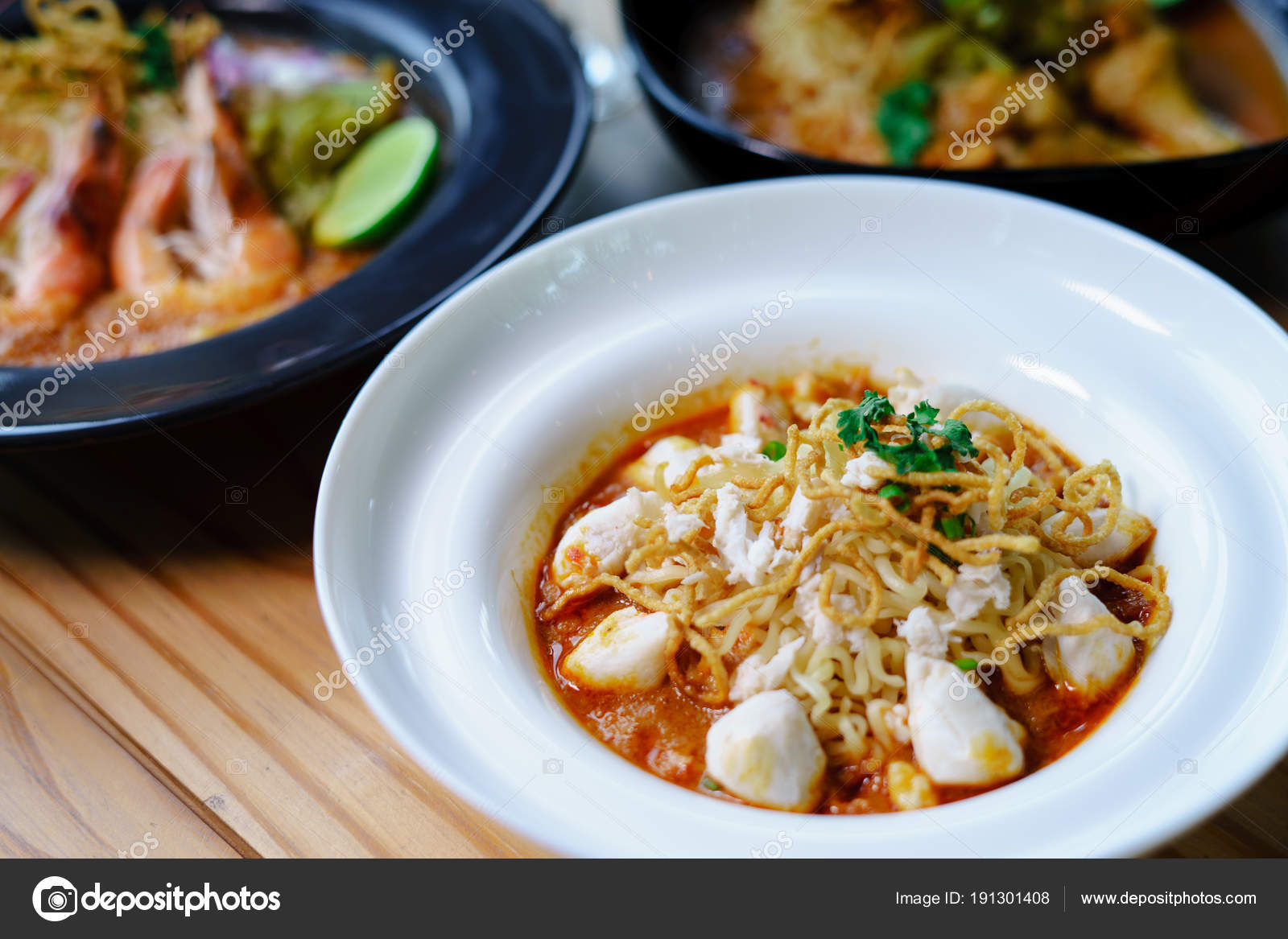 Khao Soi Rezept Thai-Küche — Stockfoto © nutjung_2005@hotmail ...