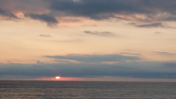 Sunset at the sea. TimeLapse.