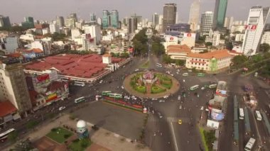 Ben Thanh Ho Chi Minh City in Viet Nam by Drone