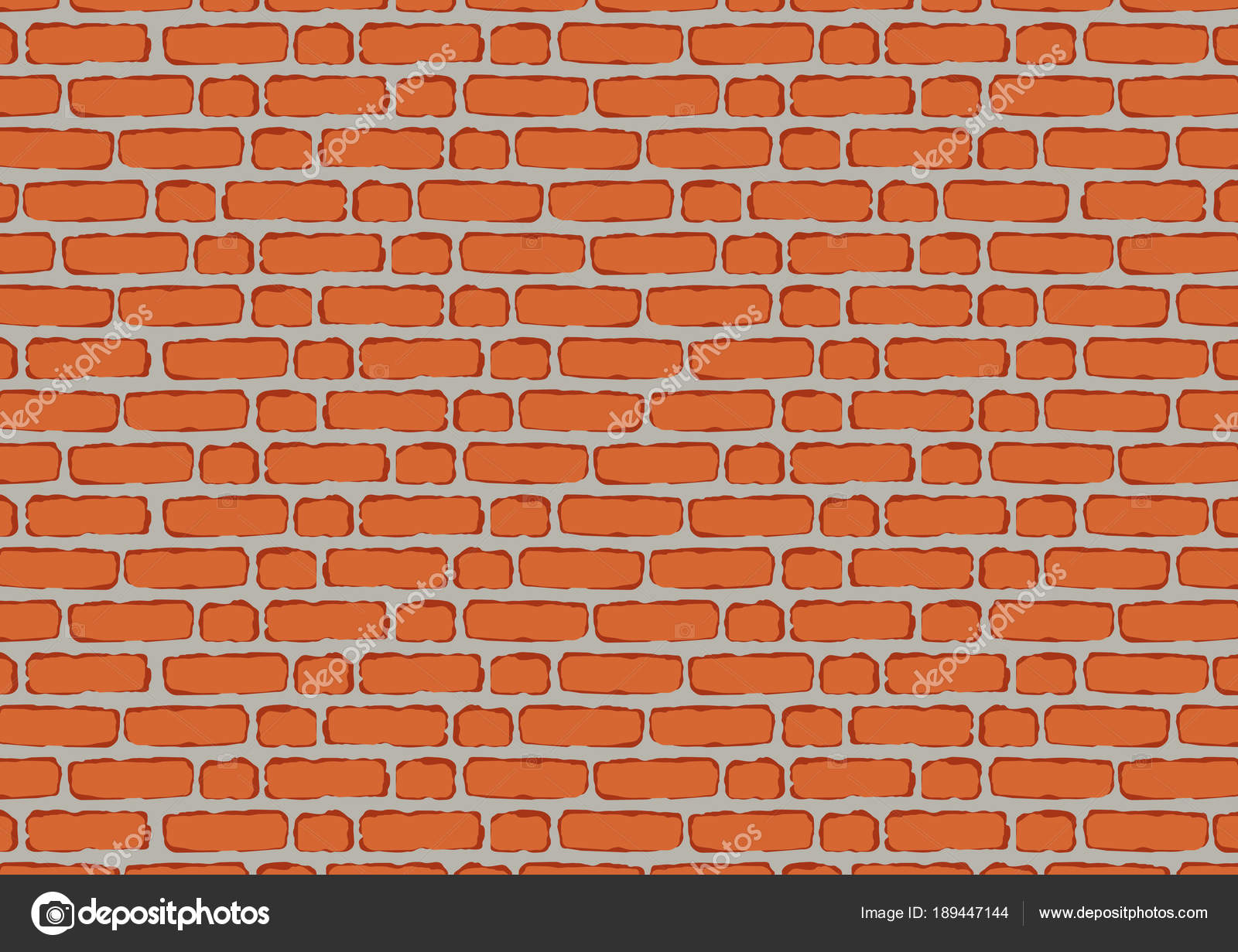 Wall Red Brick Background Decoration Stock Vector