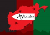 Afghan war. Map of Afghanistan.
