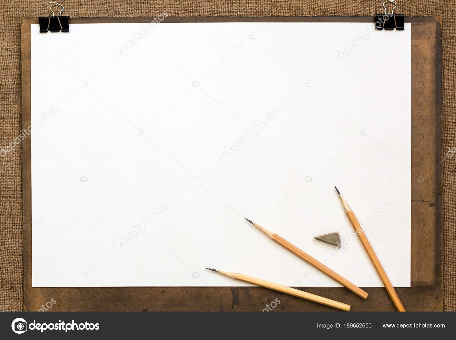 Background drawing paper pencils stock photo