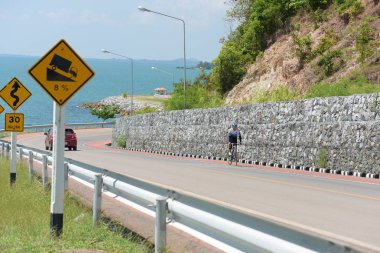 Amateur cyclist They compete in a charity program for children with visual disabilities. From Chonburi to Chanthaburi,thailand, the route is 129 km on March 17, 2018.